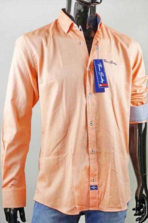 Magasszárú elegáns zipzáras velúr bőrcipő (barna)